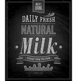 Natural Milk chalk vector image