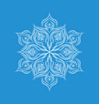 patterned snowflake icon simple style vector image