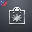 shopping bag icon symbol 3D style Trendy modern vector image