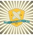 surf badge on outburst background T-shirt vector image