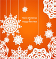 Applique snowflake Christmas banner vector image