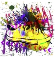 Stylish Sneakers On grunge background vector image vector image