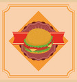 fast food gastronomy vector image