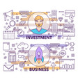 modern thin line investment and business vector image vector image