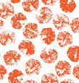Orange stamps seamless pattern vector image