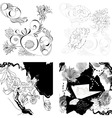 set of floral background vector image vector image