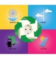 green energy alternative icon wind turbine vector image