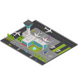 airport concept 3d isometric view vector image
