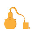 alembic flat design the chemical process is a vector image