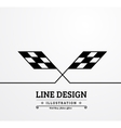 Background checkered flag vector image