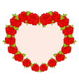 Beautiful flowers from heart - vector image