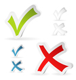 Check Marks Stickers vector image