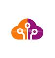 cloud technology connection logo vector image