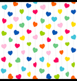 colorful heart pattern background design vector image