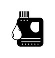 contour gasoline bottle with drop to car vector image