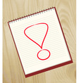 exclamation marks vector image