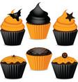 Halloween cupcakes vector image