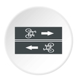 Road for cyclists icon flat style vector image