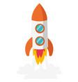 rocket take off cartoon vector image
