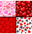 seamless hearts patterns vector image