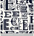 seamless vintage pattern letter E vector image
