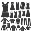 set of women s clothing vector image