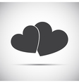 Simple of a two hearts icons vector image