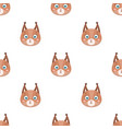 squirrel muzzle icon in cartoon style isolated on vector image