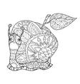 Zen art stylized snail vector image