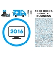 2016 Display Icon with 1000 Medical Business vector image