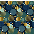 modern abstract seamless pattern with circles Xmas vector image