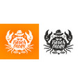 crab typographic design travel journey concept vector image