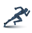 Abstract Running Human Figure vector image