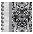 grey design of spiral ornamental notebook cover vector image vector image