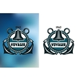 Nautical voyager banner vector image
