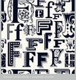 seamless vintage pattern letter F vector image