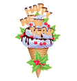 New year ice creams vector image