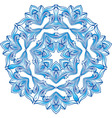 Blue snowflake ilustration vector image vector image