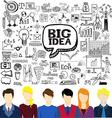 Brainstorming business vector image