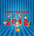 happy new year 2012 vector image
