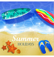 colorful summer surfing design vector image