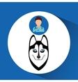 Doctor cartoon veterinarian dog siberian vector image