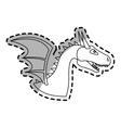 dragon cartoon icon vector image