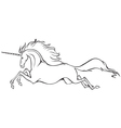 galloping unicorn vector image