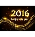 Greeting card Happy New Year 2016 vector image