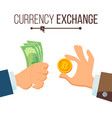 money currency exchange concept dollar and vector image