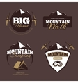 Outdoor mountain camping alpinism emblems vector image
