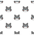 raccoon muzzle icon in cartoon style isolated on vector image