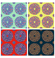 Seamless colorful circle pattern vector image