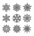 snowflakes and mandala collection vector image